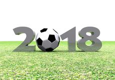 New Year - 2018. Background the New Year - 2018 3D Stock Images