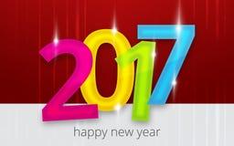 2017 background new year design. Design image Stock Images