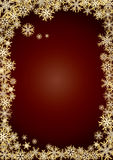 Background new year gold snowflakes stock images