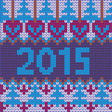 Background of new year with knitted texture Stock Photography