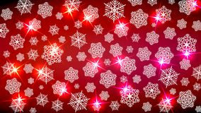 Background for the New Year mood. Merry Christmas. Snowflakes and sparkles in red tones. Gives a festive cosiness. Vector image Royalty Free Stock Photos