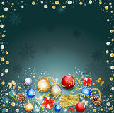 Background with New Year's balloons Royalty Free Stock Photos