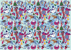 Background in new year style. Hand drawn Stock Images
