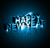 Background for New year text shiny blue colorful  Stock Image