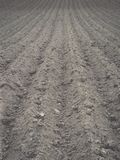 Background of newly plowed field ready for new crops - vintage e Stock Photos