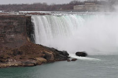Background with the Niagara Falls in winter Stock Images