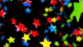 Background with nice falling multicolor stars. Abstract Background with nice falling multicolor stars Royalty Free Stock Photo