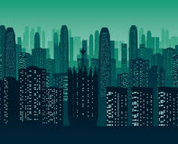 Background of night city. A high quality background of night city. Flat style Royalty Free Stock Images