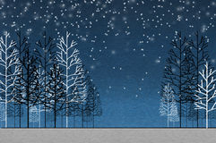 Background of night forest Royalty Free Stock Images