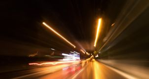 Background Night Freeway Car Mount Driving Time Lapse. Time Lapse From Car Night Driving stock video