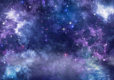 Background of the night sky Stock Photo