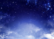 Background of the night sky Stock Image