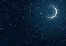 Background night sky with stars and moon Royalty Free Stock Image