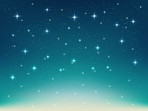 Background with night, stars in the sky, shining light Royalty Free Stock Photo