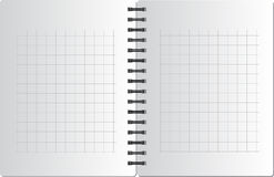 Background from notebook in square on the black sp Royalty Free Stock Photography