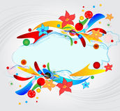 Background for notes from color geometrical figure Royalty Free Stock Photography