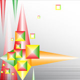 Background for notes from color geometrical figure Royalty Free Stock Photo