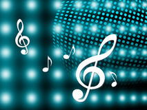 Background Notes Means Treble Clef And Backdrop Stock Image