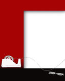 Background notice board red white black Royalty Free Stock Image