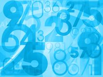 Background numbers Royalty Free Stock Photo