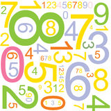 Background with numbers stock illustration