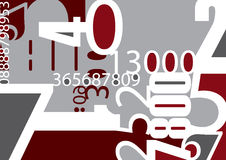 Background with numbers. Vector illustration Royalty Free Stock Photo
