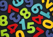 Background of Numbers. Just various numbers in different colors, colorful background royalty free stock image