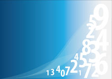 Background with numbers Stock Image