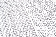 Background of the numbers on sheets  paper Royalty Free Stock Photography