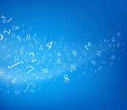 Background with numbers, vector Stock Photos