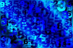 Background of numbers. Vector illustration royalty free illustration