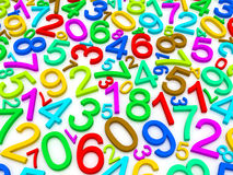 Background of numbers Royalty Free Stock Photography