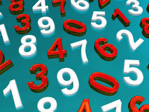 Background of numbers. Stock Photography