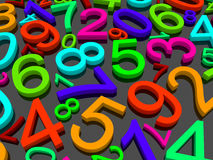 Background of numbers. Stock Photo