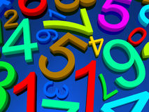 Background of numbers Stock Photos