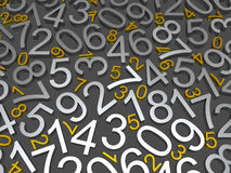 Background of numbers Stock Image
