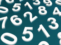 Background of numbers. Royalty Free Stock Photo