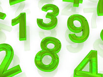Background of numbers Royalty Free Stock Photos