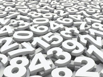 Background of numbers. Stock Image