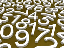 Background of numbers. Stock Images