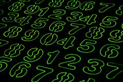 Background of numbers. from zero to nine. Numbers texture. Currency symbols. Numerology. Mathematical equations and formulas.  stock photos