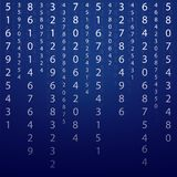 Background numeric science Royalty Free Stock Images