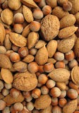 Background of nuts Stock Photos