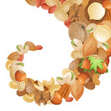 Background with nuts Royalty Free Stock Photography