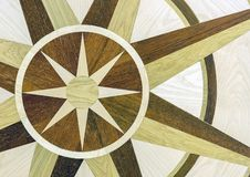 Background oak parquet with a decorative element royalty free stock images