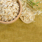 Background with Oat Flake Royalty Free Stock Photo