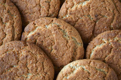 Background of the oatmeal cookies Royalty Free Stock Photography