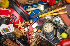Many objects in chaos. Background of objects in chaos royalty free stock photo