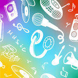 Background with objects on a musical theme. Royalty Free Stock Images