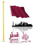 Background on the occasion of the celebration of the National Day of Qatar Stock Photography